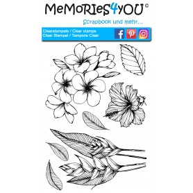 Memories4you Stempel (A6) Tropical Flower
