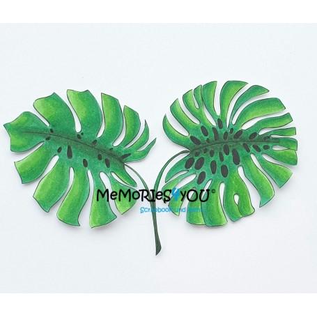 Tropical Blätter zum Colorieren.