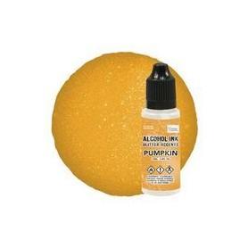Alcohol Ink Glitter Accents Pumpkin