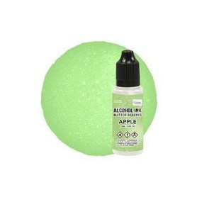 Alcohol Ink Glitter Accents Apple