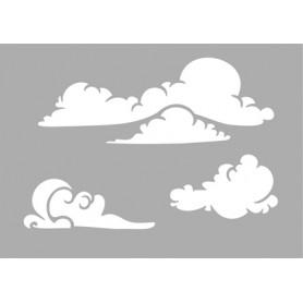"Memories4You Stencil ""Wolken"" (A6)"