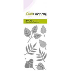 CraftEmotions Die - Blätter-Mix Card 5x10cm