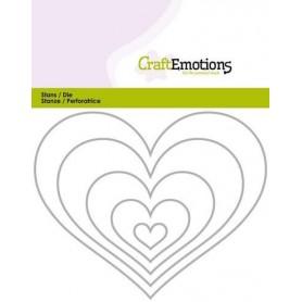 CraftEmotions Die - Borten Herz Card 11x14cm
