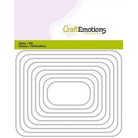 CraftEmotions Die - Borten Rechteck mit runden Ecken Card 11x14cm