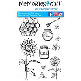 "Memories4you Stempel (A6) ""Honig"""