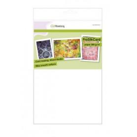 CraftEmotions ProSilkCard - Luxus glatte Pappe weiß 10 Bg