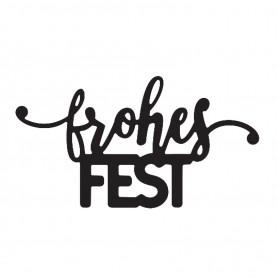 "Mundart Stanzschablone ""frohes Fest"""