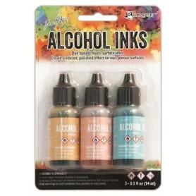 Ranger Alcohol Ink Kits Lakeshore Sandal,Aqua,Salmon Tim Holtz 3x15ml
