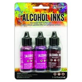 Ranger Alcohol Ink Kits Pink/Red Spectrum 3x15 ml Tim Holtz