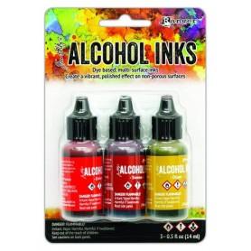 Ranger Alcohol Ink Kits Orange/Yellow Spectrum 3x15 ml Tim Holtz