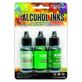 Ranger Alcohol Ink Kits Mint/Green Spectrum 3x15 ml Tim Holtz
