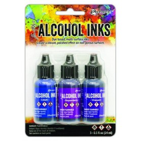 Ranger Alcohol Ink Kits Indigo/Violet Spectrum 3x15 ml Tim Holtz