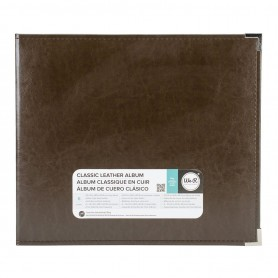 We R Memory Keepers • Faux leather album 30,5x30,5 cm Dark chocolate