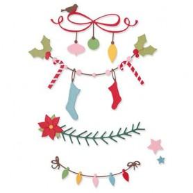 Sizzix Thinlits Die Set 14PK - Christmas Borders