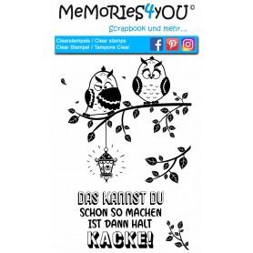 """Memories4you Stempel (A6) """"Eulen"""""""