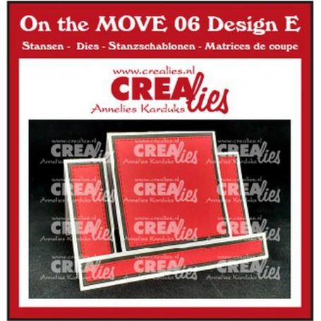 Crealies - Center Step Card mit Quadrat