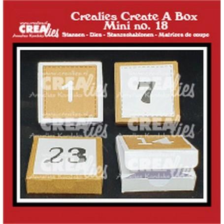 Crealies Create A Box - Mini no. 18 Adventsbox mit Zahlen