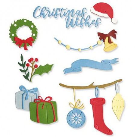 Sizzix Thinlits Die Set 20PK - Christmas Decorations
