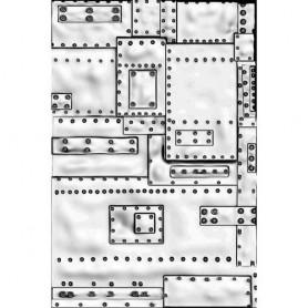Sizzix 3-D Embossing Folder - Mini Foundry - Tim Holtz