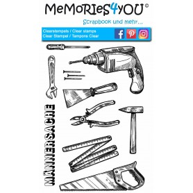 "Memories4you Stempel (A6) ""Werkzeuge """