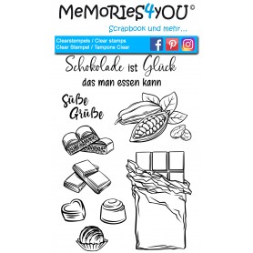 "Memories4you Stempel (A6) ""Schokolade """
