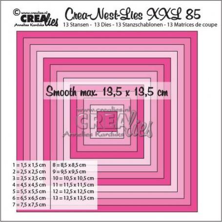 Crealies Crea-Nest-Lies XXL no 85 glatte Quadrate halben cm