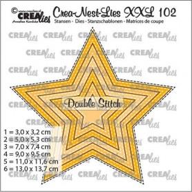 Crealies Crea-nest-dies XXL Stern mit doppelter Stichlinie (6x)