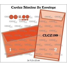 Crealies Cardzz dies Slimline 2x Umschlag