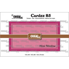 Crealies Cardzz Mini Slimline E mit Doppelpunktlinie