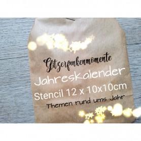 Memories4you Jahreskalender 12x  Stencils (10x 10cm) 2021