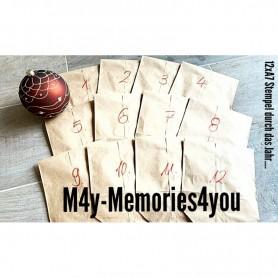 Memories4you Jahreskalender 12xStempel  (A7) Auslieferung 15.11.21