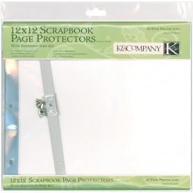 Post Bound Page Protectors 12 X12 10/Pkg