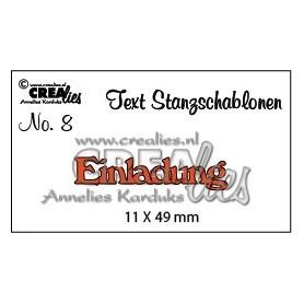 Crealies Tekststans (DE) Einladung 11 X 49 mm