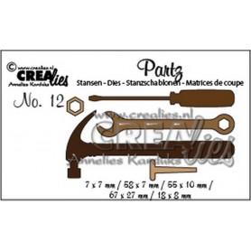 Crealies Partz no. 12 Werkzeuge Mann CLPartz12 / max 67x27mm