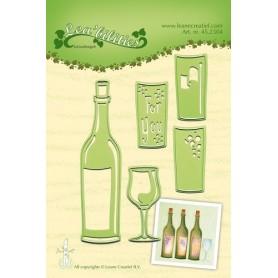 LeCrea - Lea'bilitie Weinflasche & Glas Präge-, Schneideschablone