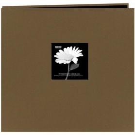 "Pioneer Fabric Frame Post Bound Album 12""X12"" Warm Mocha"