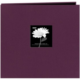 "Pioneer Fabric Frame Post Bound Album 12""X12"" Wildberry Purple"