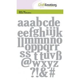 CraftEmotions Die - Kleinbuchstaben 10,5x14,8cm