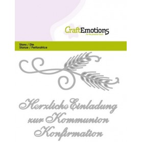 CraftEmotions Die Tekst - Einladung Kommunion