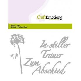 CraftEmotions Die Tekst - In stiller Trauer Card 11x9cm