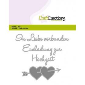 CraftEmotions Die Tekst - In Liebe verbunden Card 11x9cm