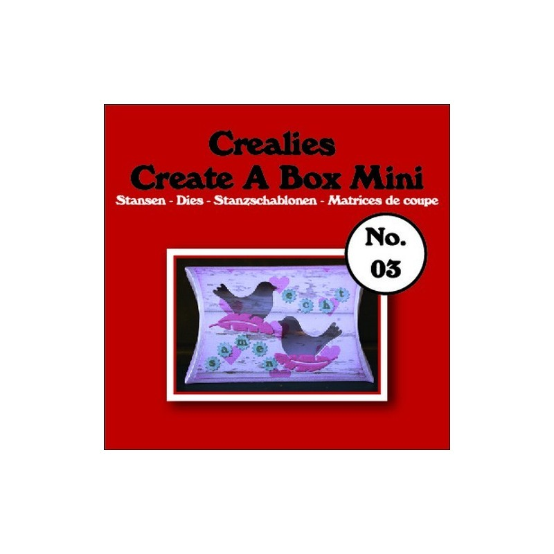Crealies Create A Box Mini no. 03 Pillowbox 87x138mm