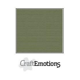 CraftEmotions Leinenkarton 10 Bg Armee grün 27x13,5cm 250gr