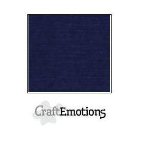 CraftEmotions Leinenkarton 10 Bg dunkelblau 27x13,5cm 250gr