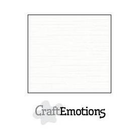 CraftEmotions Leinenkarton 10 Bg weiß 27x13,5cm 250gr