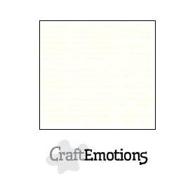CraftEmotions Leinenkarton 10 Bg gebrochenes Weiß 27x13,5cm 250gr