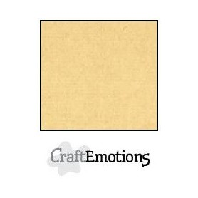 CraftEmotions Leinenkarton 10 Bg Honig (Kraft) 27x13,5cm 250gr