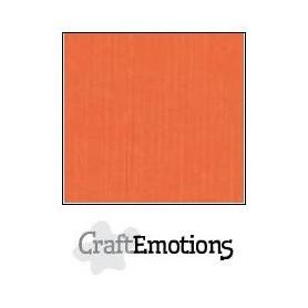 CraftEmotions Leinenkarton 10 Bg orange 27x13,5cm 250gr