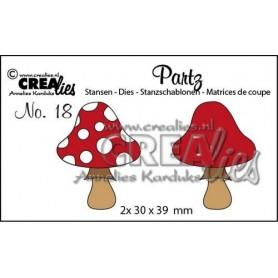 Crealies Partz no. 18 Pilz B 2x30x39mm