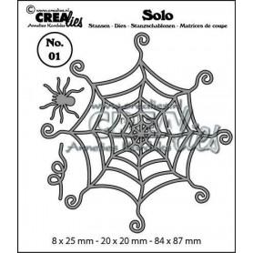 Crealies Solo Spinnennetz mit spinne 8x25mm-20x20mm-84x87mm